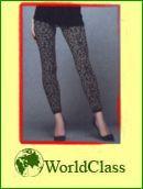 st tz leggings leopardenmuster schlanke beine po bauch grau schwarz ebay. Black Bedroom Furniture Sets. Home Design Ideas
