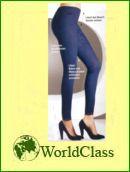 leggings jeansblau mit st tzfunktion schlanke oberschenkel bauch beine po figur ebay. Black Bedroom Furniture Sets. Home Design Ideas